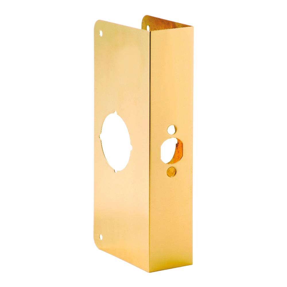 First Watch Security 2002-PB Door Reinforcer, Backset 2-3/8 Inch Door Thickness 1-3/4 Inch Polished Brass - Solid Brass Finish