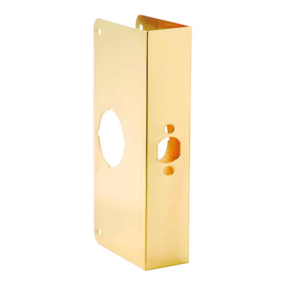First Watch Security 2004-PB Door Reinforcer, Backset 2-3/4 Inch Door Thickness 1-3/4 Inch Polished Brass - Solid Brass Finish