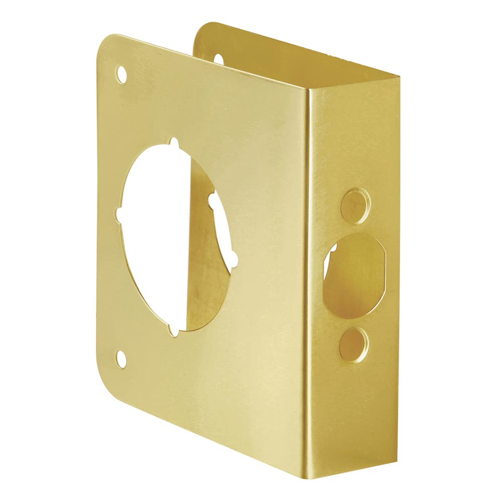 First Watch Security 2051-PB Door Reinforcer, Backset 2-3/8 Inch Door Thickness 1-3/8 Inch Polished Brass - Solid Brass Finish