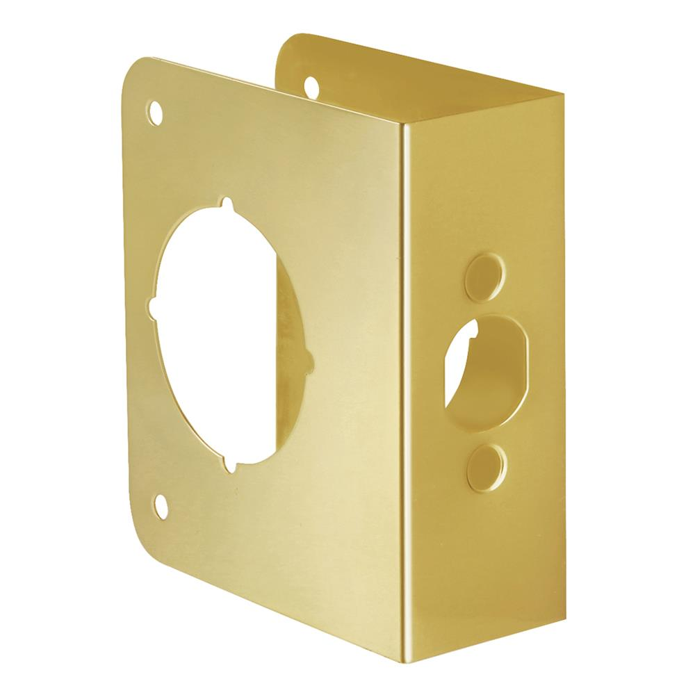First Watch Security 2061-PB Door Reinforcer, Backset 2-3/8 Inch Door Thickness 1-3/4 Inch Polished Brass - Solid Brass Finish