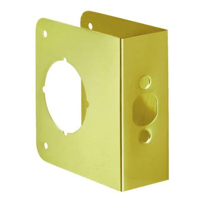 First Watch Security 2081-PB Door Reinforcer, Backset 2-3/4 Inch Door Thickness 1-3/4 Inch Polished Brass - Solid Brass Finish
