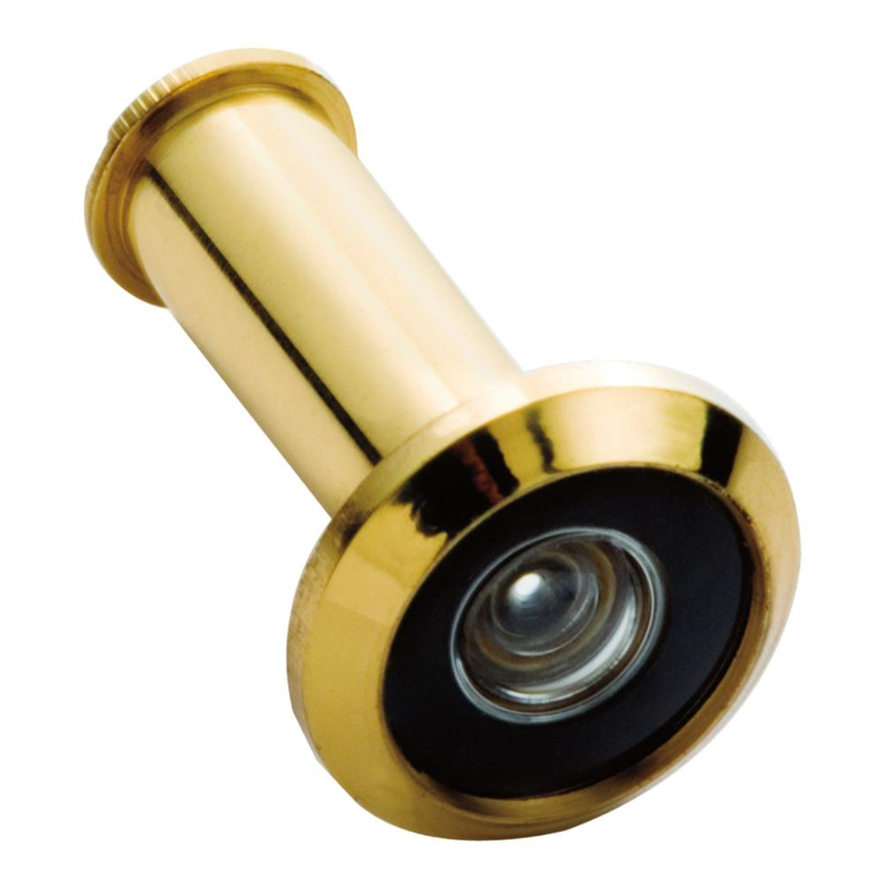 First Watch Security 2320 Wide Angle Door Viewer 190 Degrees Polished Brass - Solid Brass Finish