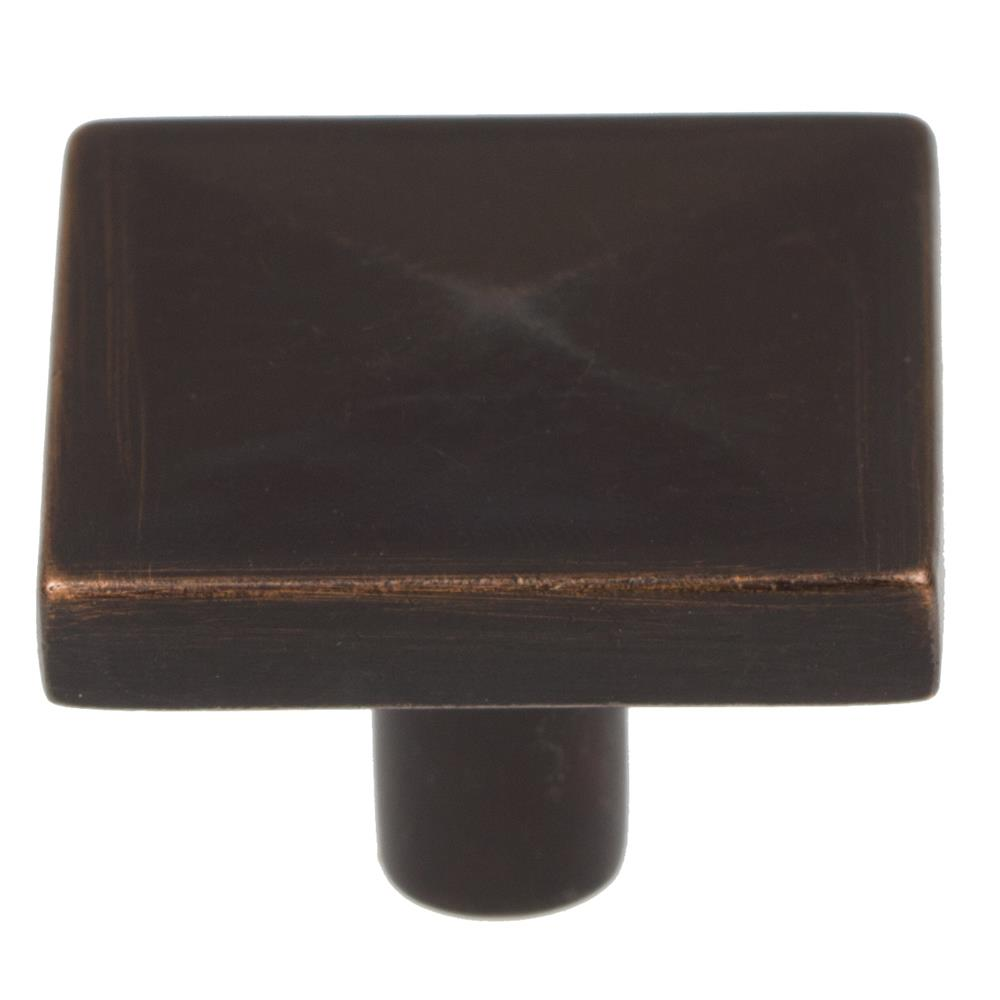 "GlideRite Hardware 5207-ORB 1-1/8"" Oil Rubbed Bronze Square Pyramid Cabinet Knobs"
