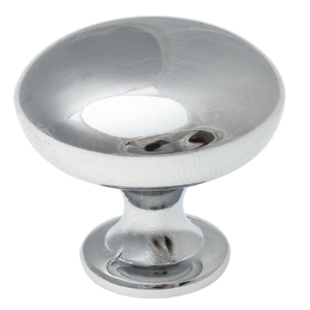 "GlideRite Hardware 5411-PC 1-1/8"" Classic Polished Chrome Round Cabinet Knobs"
