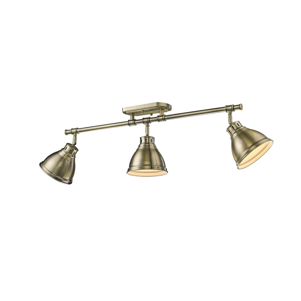 Golden Lighting 3602-3SF AB-AB Duncan AB Semi-Flush - Track Light
