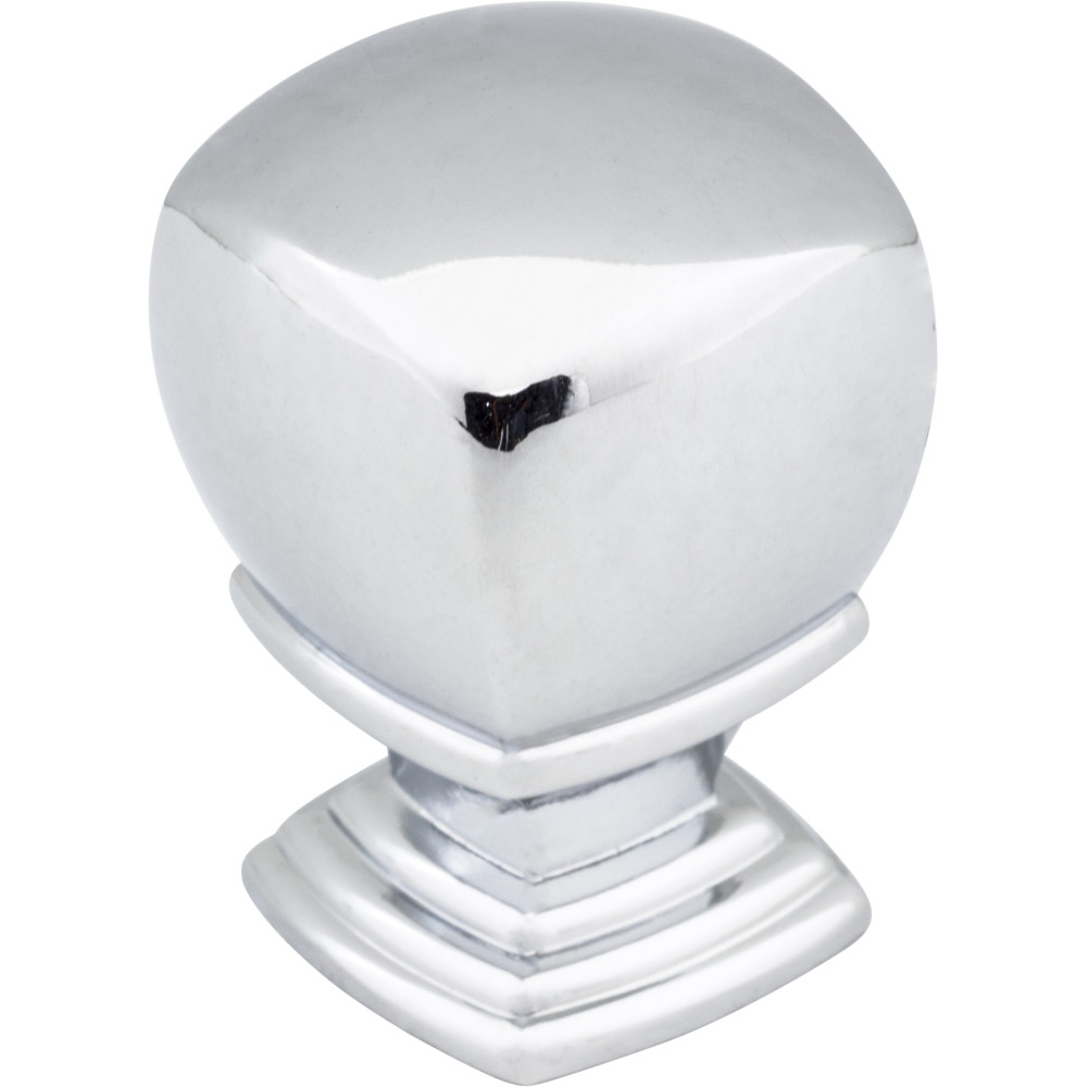 "Jeffrey Alexander by Hardware Resources 188L-PC 1"" Overall Length Cabinet Knob.  Packaged with one 8/32"" x 1"
