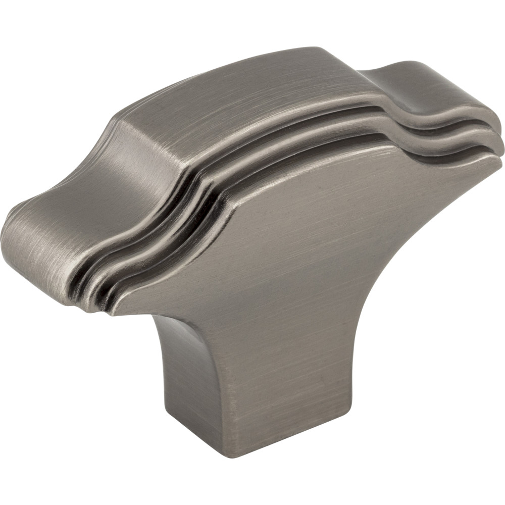 "Jeffrey Alexander by Hardware Resources 225BNBDL 1-11/16"" Overall Length Zinc Die Cast Cabinet Knob."