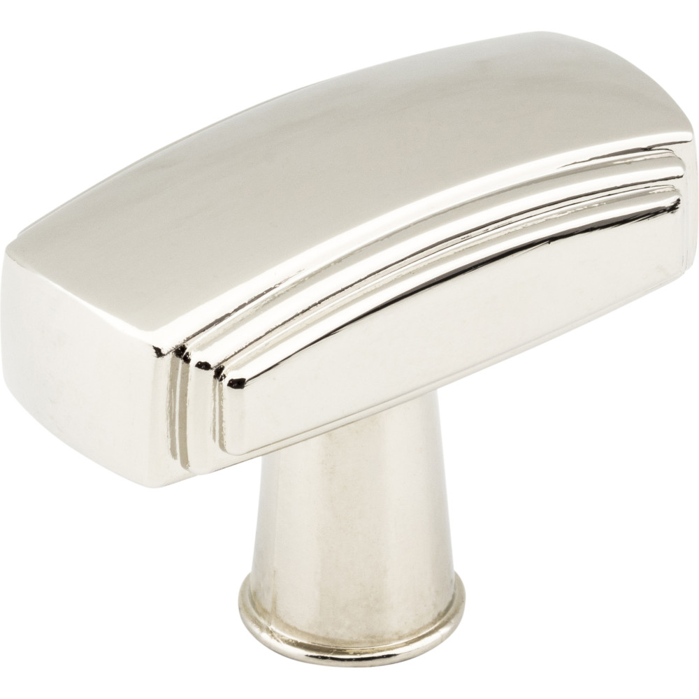 "Jeffrey Alexander by Hardware Resources 519NI 1-9/16"" x 13/16"" Zinc Die Cast Cabinet Knob.  Packaged with"