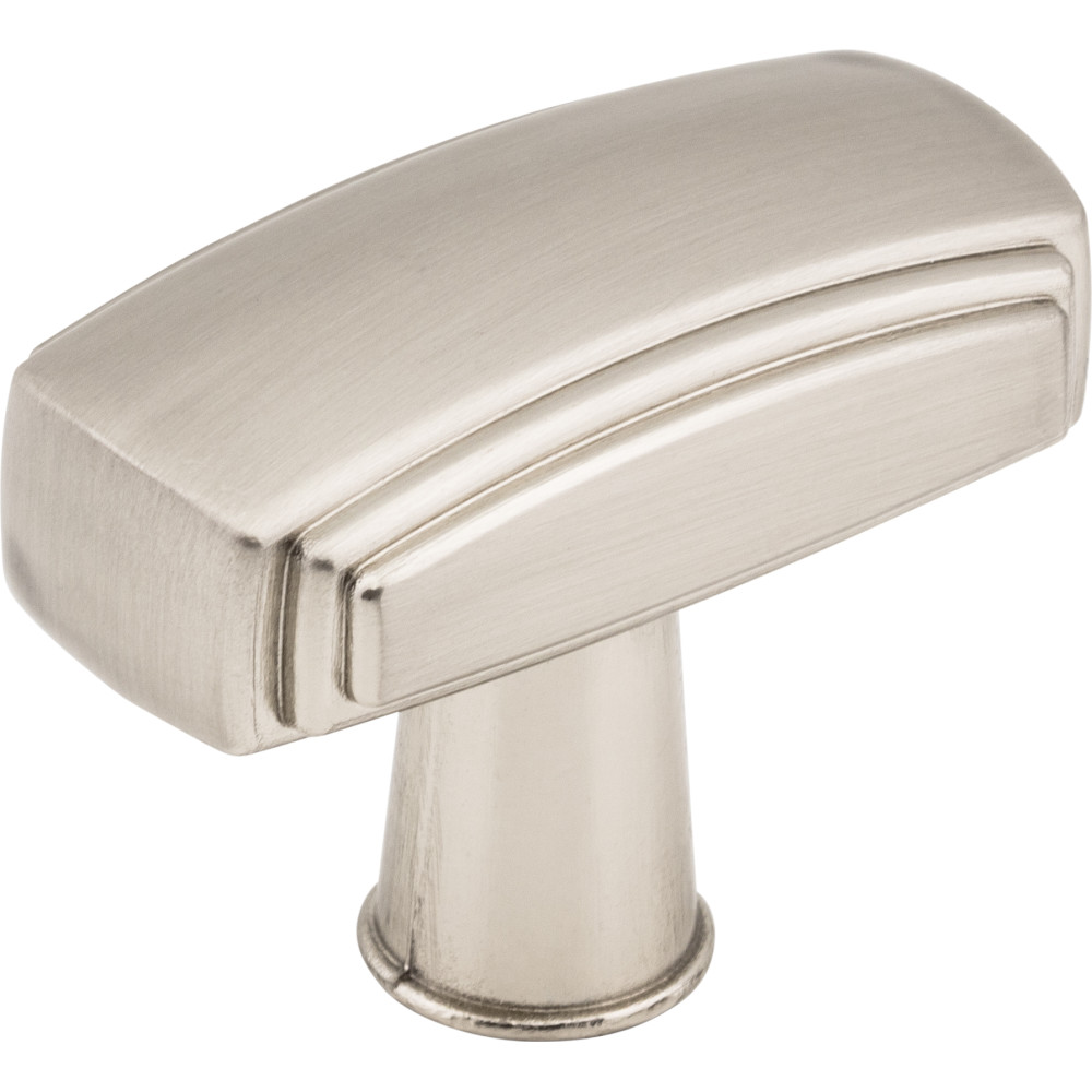 "Jeffrey Alexander by Hardware Resources 519SN 1-9/16"" x 13/16"" Zinc Die Cast Cabinet Knob.  Packaged with"