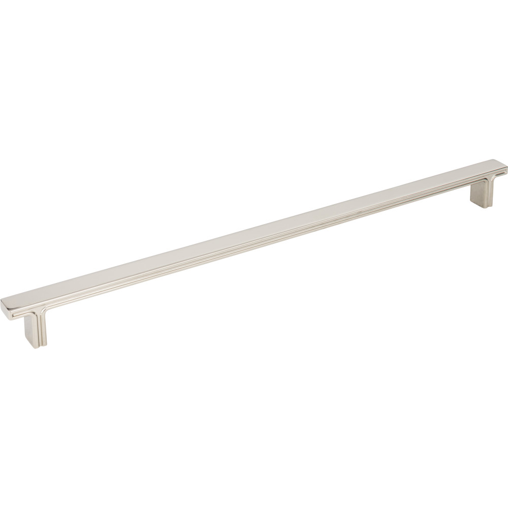 "Jeffrey Alexander by Hardware Resources 867-320NI 13-15/16"" OL Rectangle Cabinet Pull.  Packaged with two 8-32"