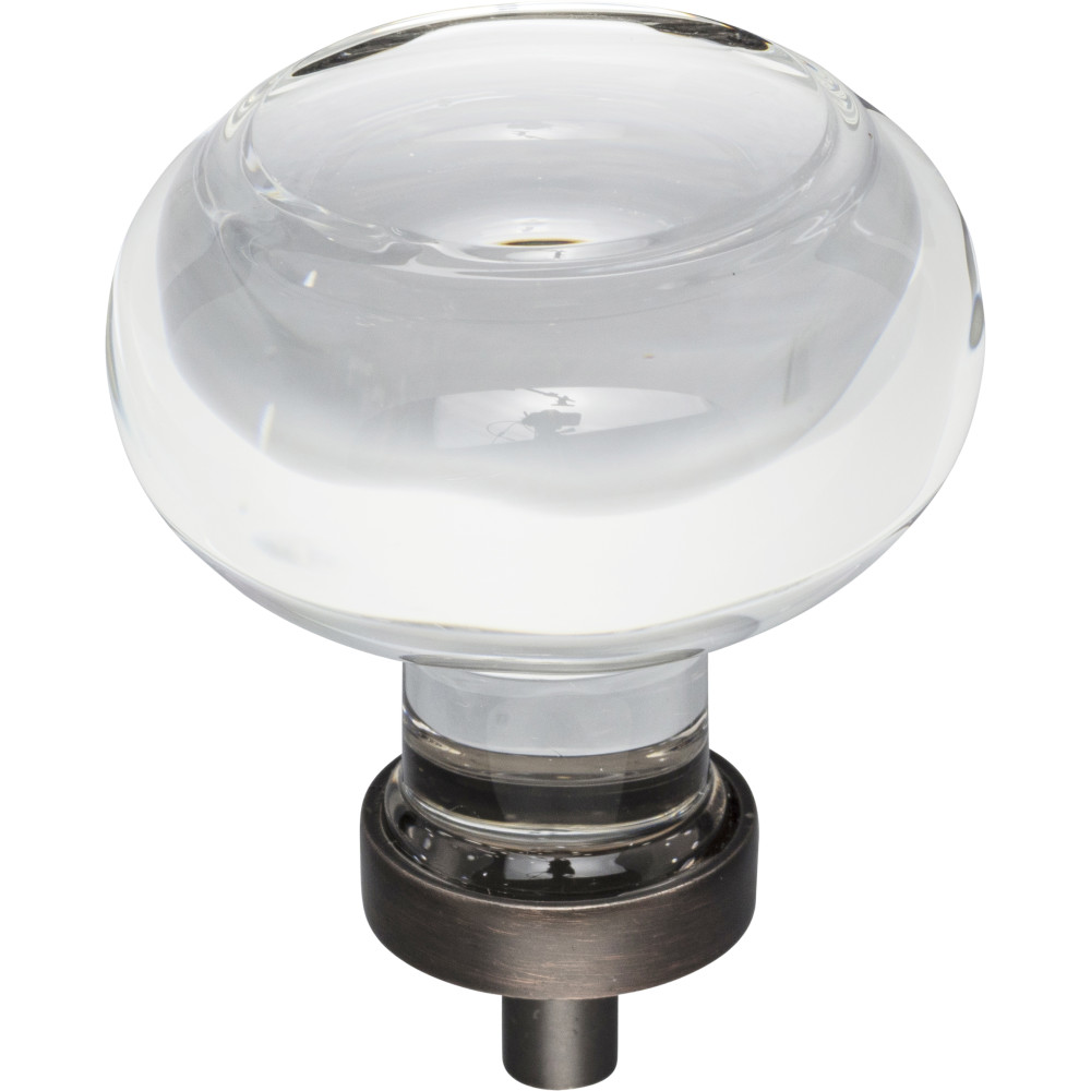"Hardware Resources G120L-DBAC Harlow 1-3/4"" Dia Glass Button Cabinet Knob Finish: Brushed Oil Rubbed Bronze"