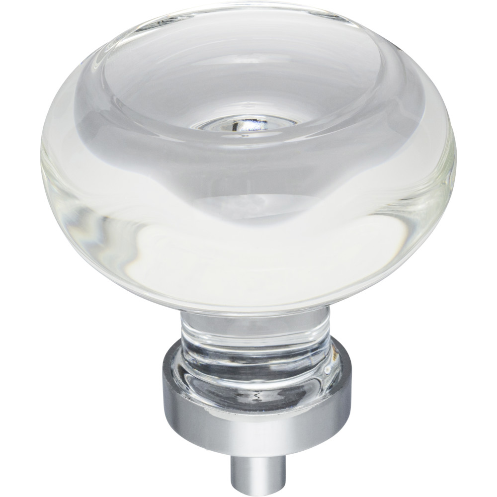 "Hardware Resources G120L-PC Harlow 1-3/4"" Dia Glass Button Cabinet Knob Finish: Polished Chrome"