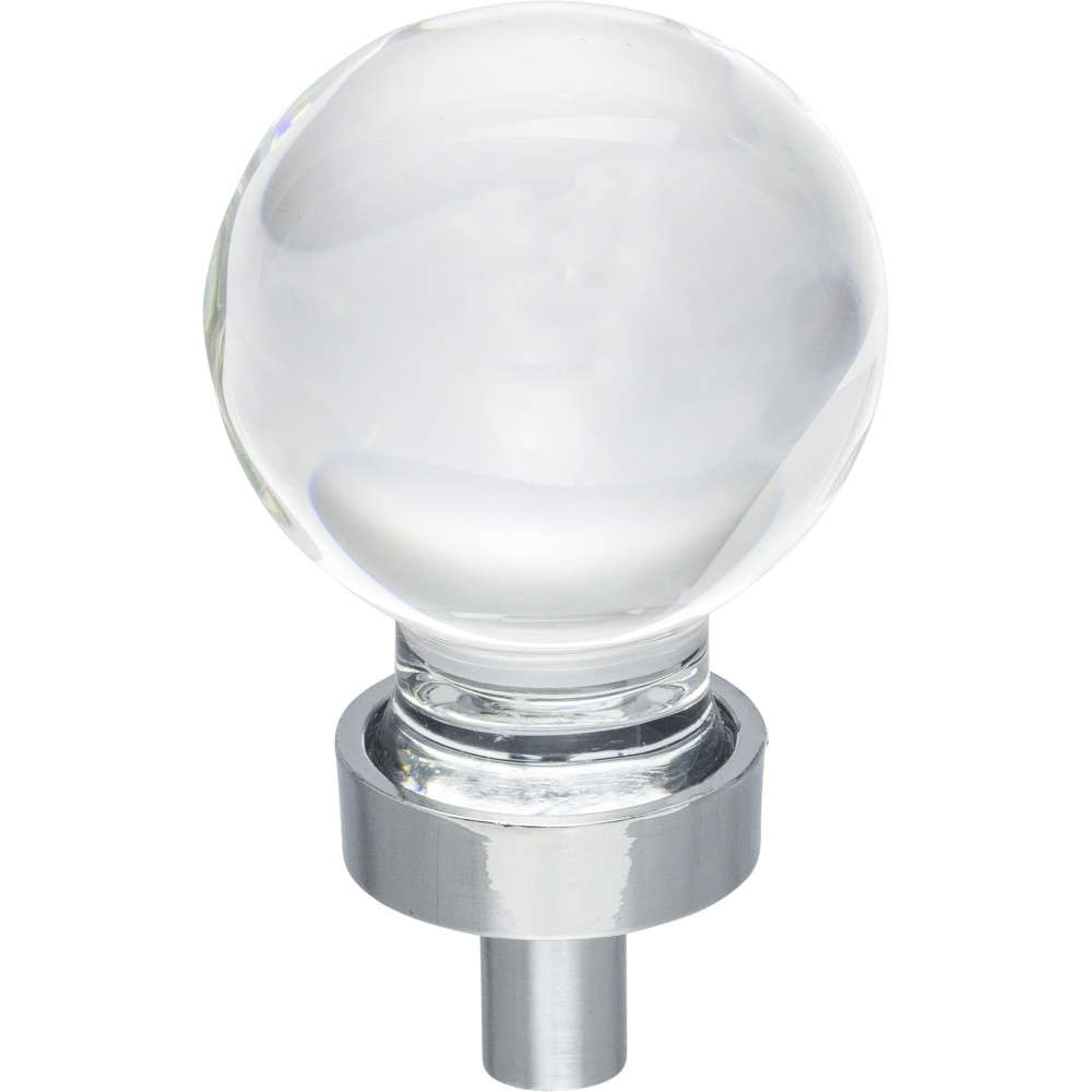 "Hardware Resources G130PC Harlow 1-1/16"" Dia Glass Sphere Cabinet Knob Finish: Polished Chrome"