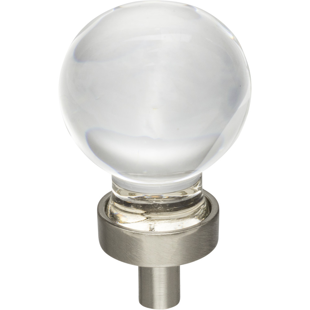 "Hardware Resources G130SN Harlow 1-1/16"" Dia Glass Sphere Cabinet Knob Finish: Satin Nickel"