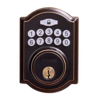 Hickory Hardware H076388-ABZ Securemote Bluetooth Enabled Deadbolt, Traditional, Aged Bronze