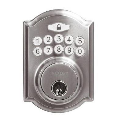 Hickory Hardware H076388-SN Securemote Bluetooth Enabled Deadbolt, Traditional, Satin Nickel