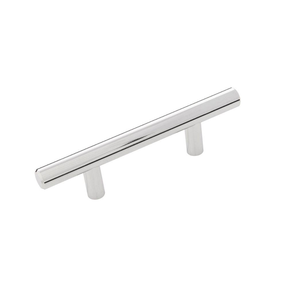 Hickory Hardware HH075592-CH Bar Pull Collection Pull 2-1/2 Inch (64mm) Center to Center Chrome Finish