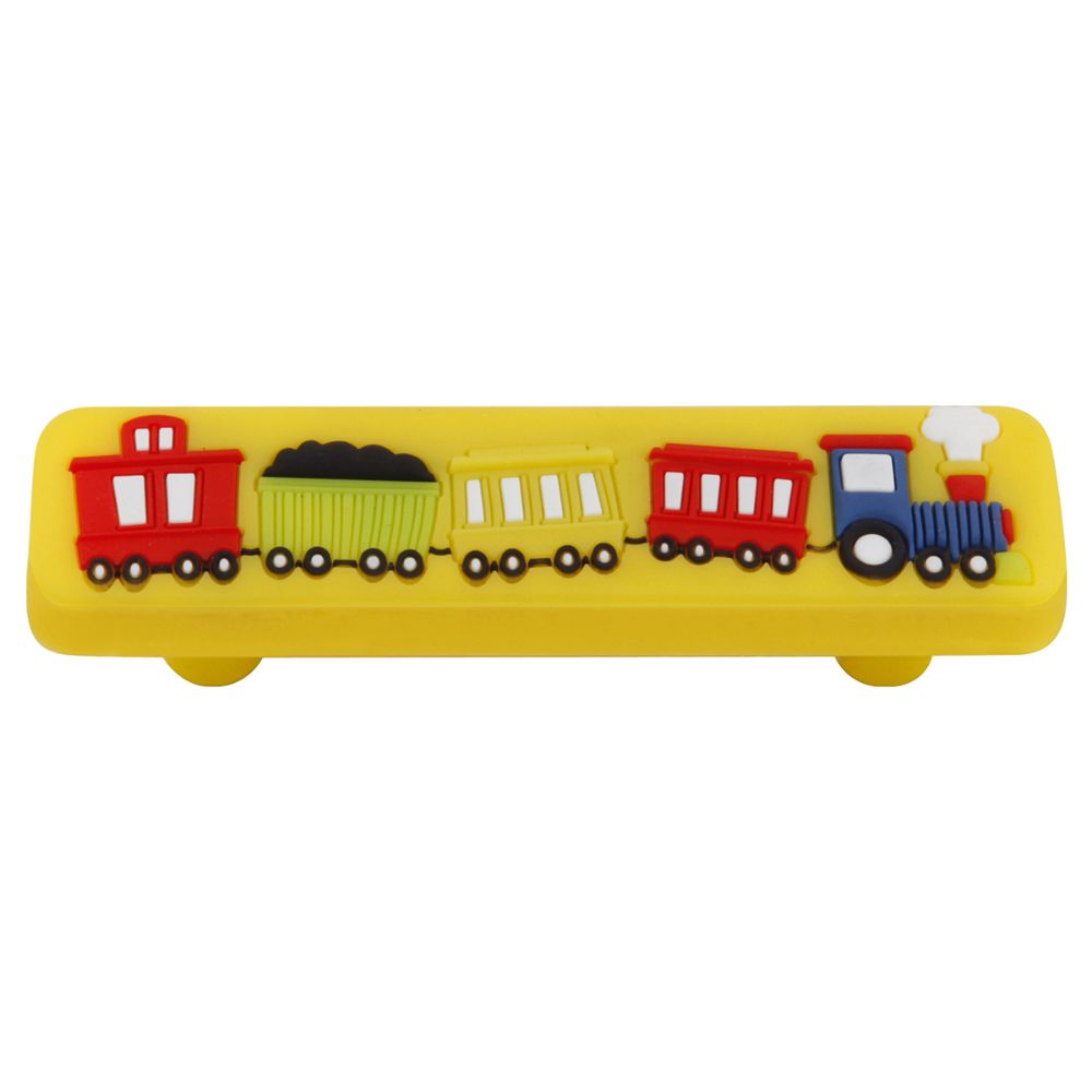 Hickory Hardware HH74648-ZZ Kids Corner Collection Pull Train 2-1/2 Inch (64mm) Center to Center Multi-Colored Finish