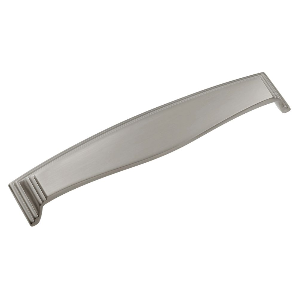 Hickory Hardware HH74673-SN Somerset Collection Cup Pull 3 Inch, 3-3/4 Inch (96mm) & 5-1/16 Inch (128mm) Center to Center Satin Nickel Finish