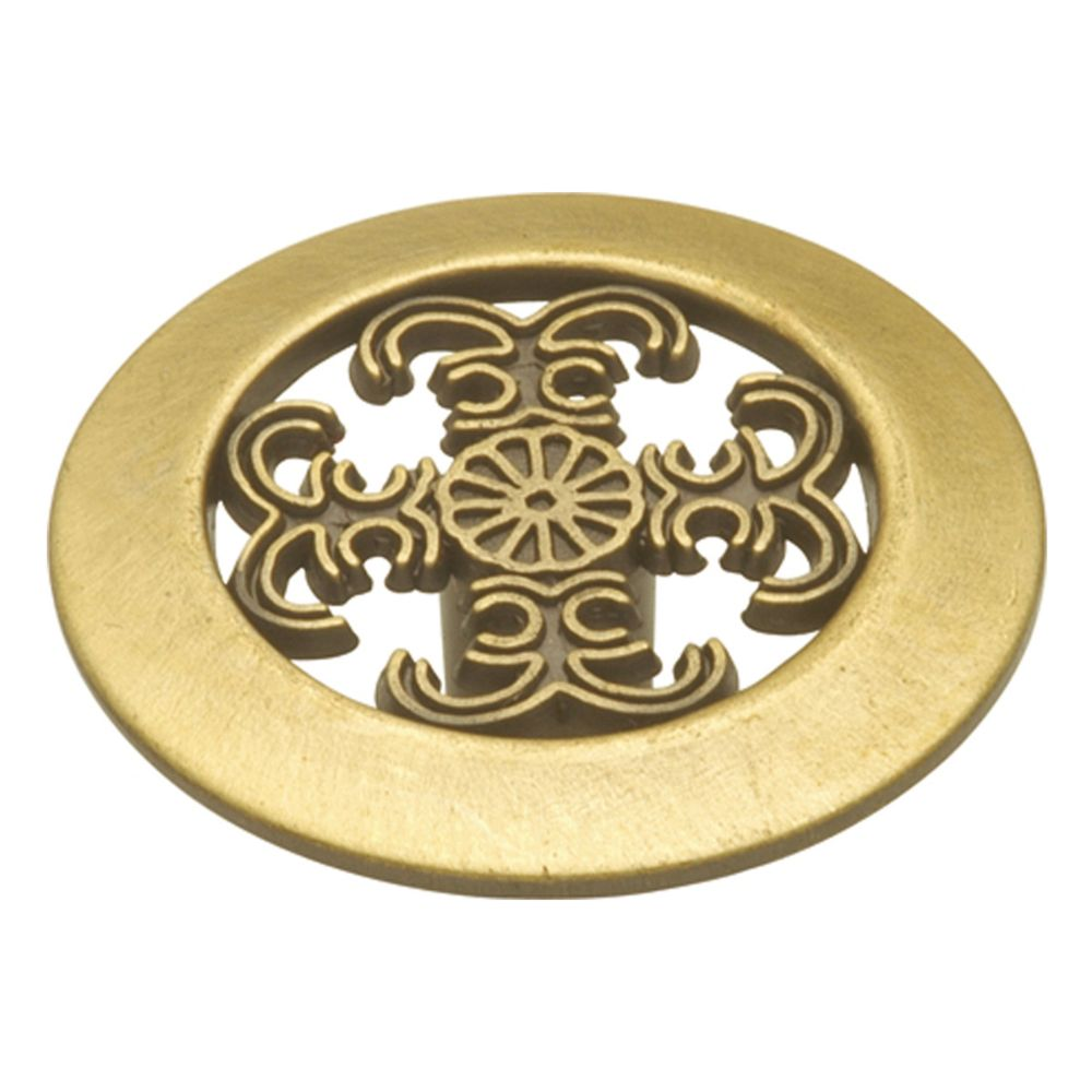 Hickory Hardware P117-AB Cavalier Collection Knob 1-1/2 Inch Diameter Antique Brass Finish