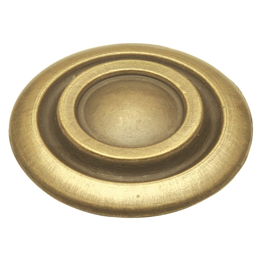 Hickory Hardware P121-AB Cavalier Collection Knob 1-1/4 Inch Diameter Antique Brass Finish