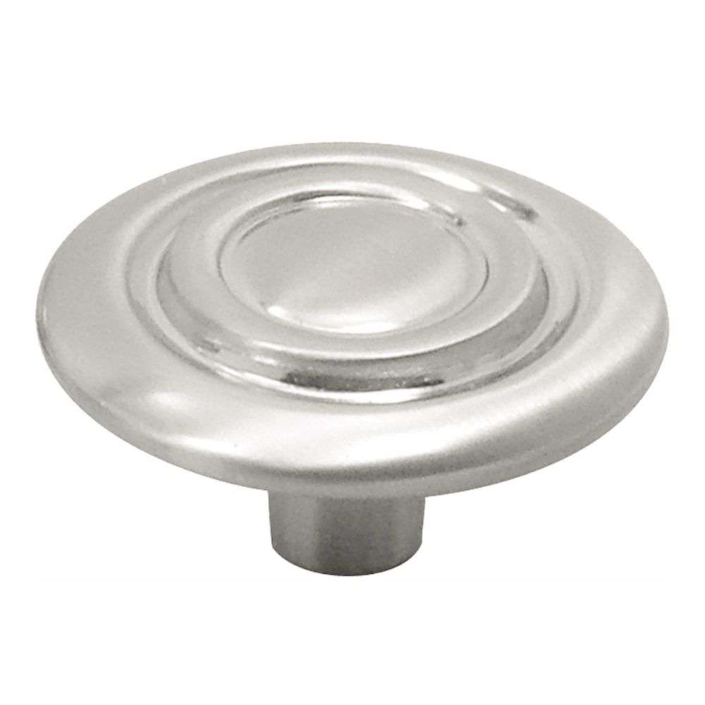 Hickory Hardware P121-SN Cavalier Collection Knob 1-1/4 Inch Diameter Satin Nickel Finish