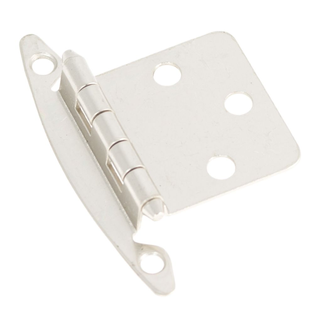 Hickory Hardware P139-SN Surface Mount Collection Hinge Flush (2 Pack) Satin Nickel Finish