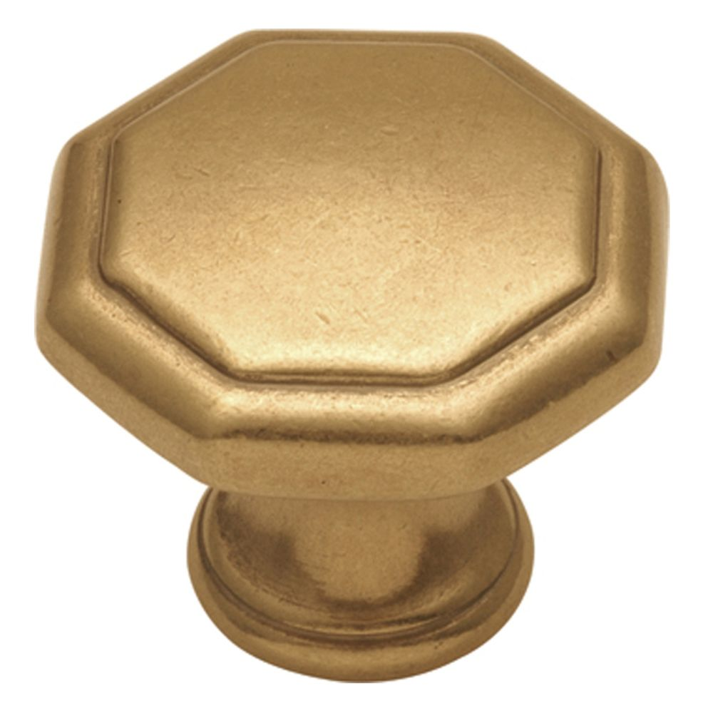 Hickory Hardware P14004-LB Conquest Collection Knob 1-1/8 Inch Diameter Lustre Brass Finish
