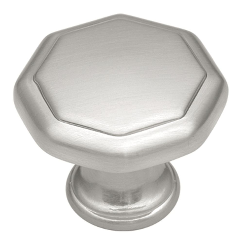 Hickory Hardware P14004-SN Conquest Collection Knob 1-1/8 Inch Diameter Satin Nickel Finish