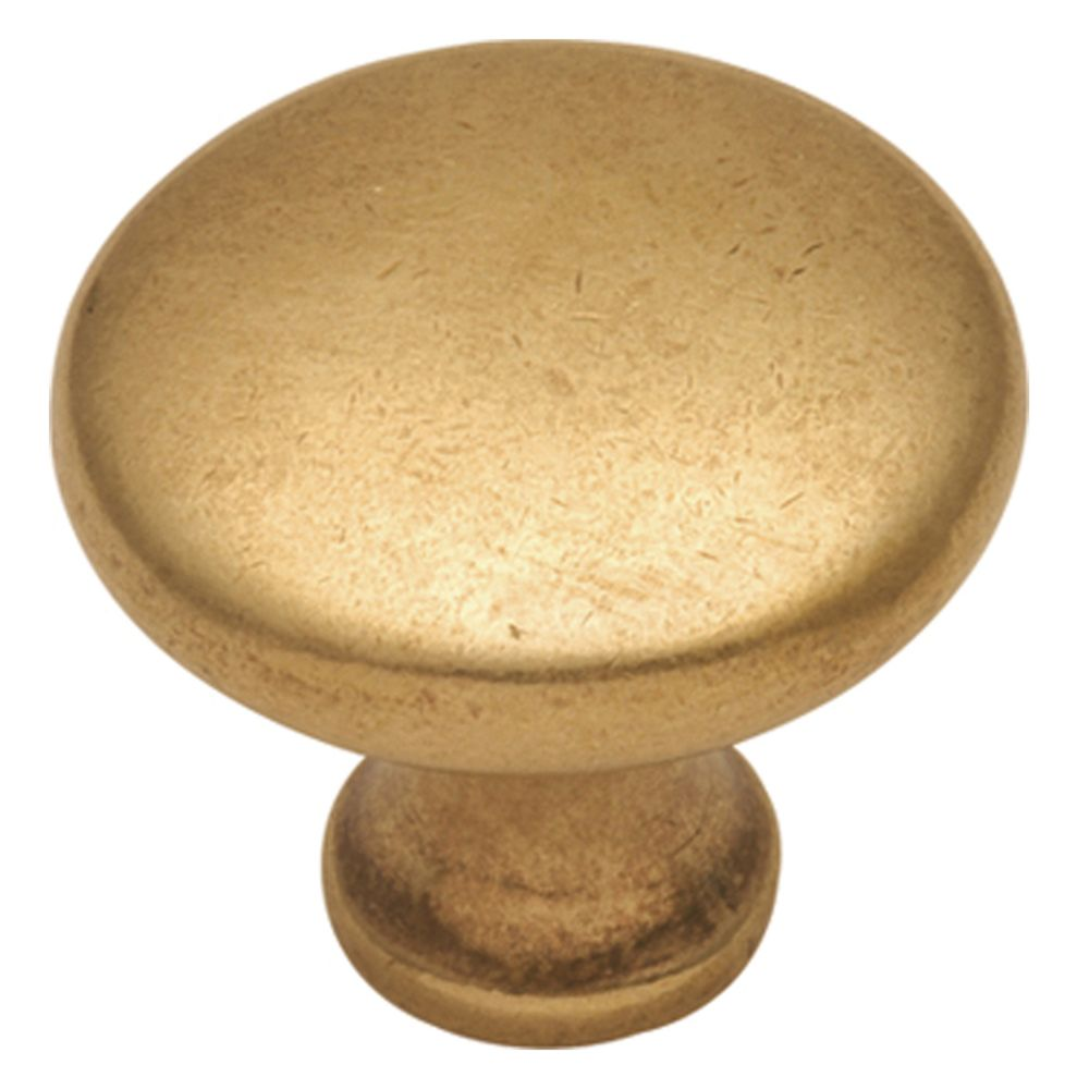 Hickory Hardware P14255-LB Conquest Collection Knob 1-1/8 Inch Diameter Lustre Brass Finish