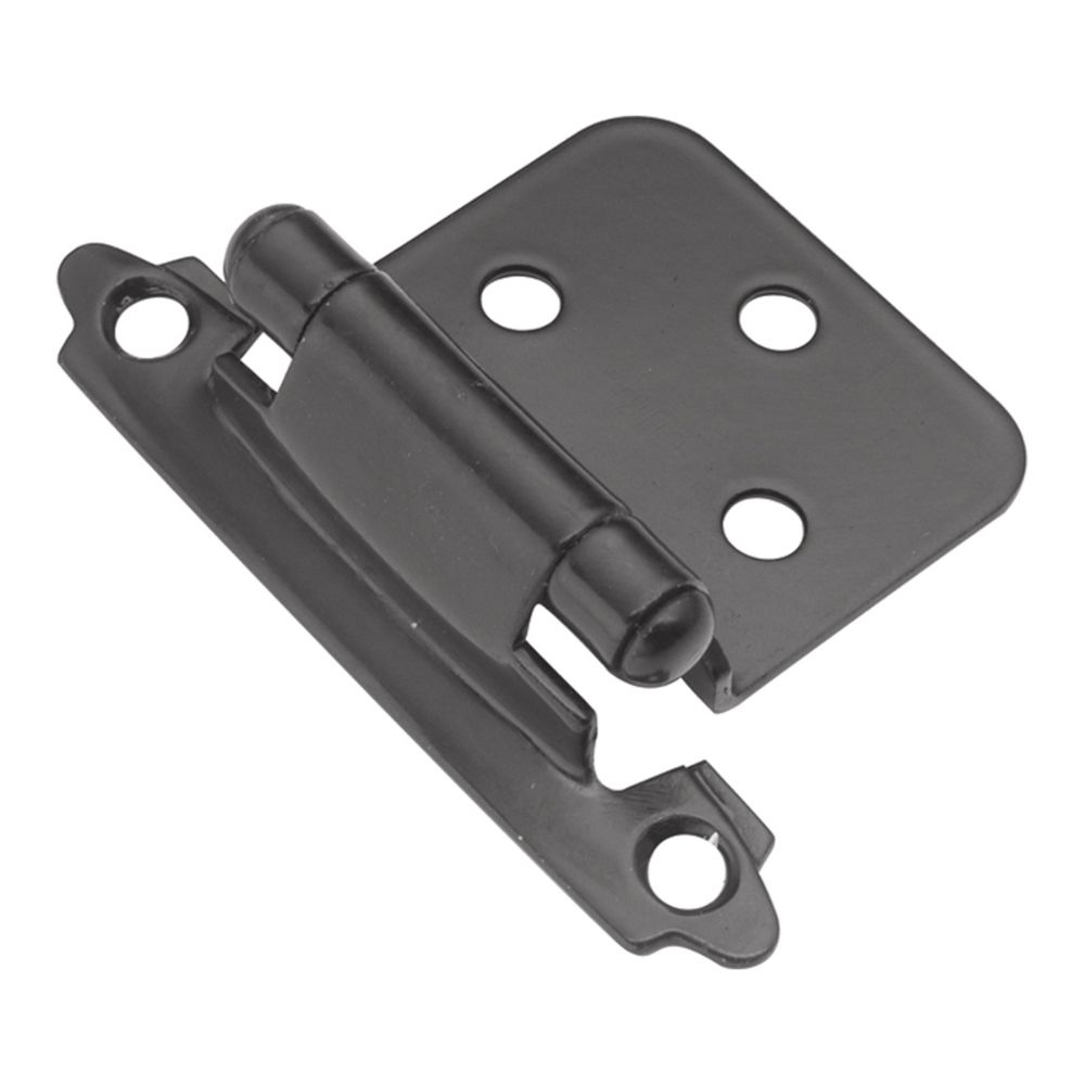 Hickory Hardware P144-BL Surface Self-Closing Collection Hinge SurFace Self Close (2 Pack) Black Finish