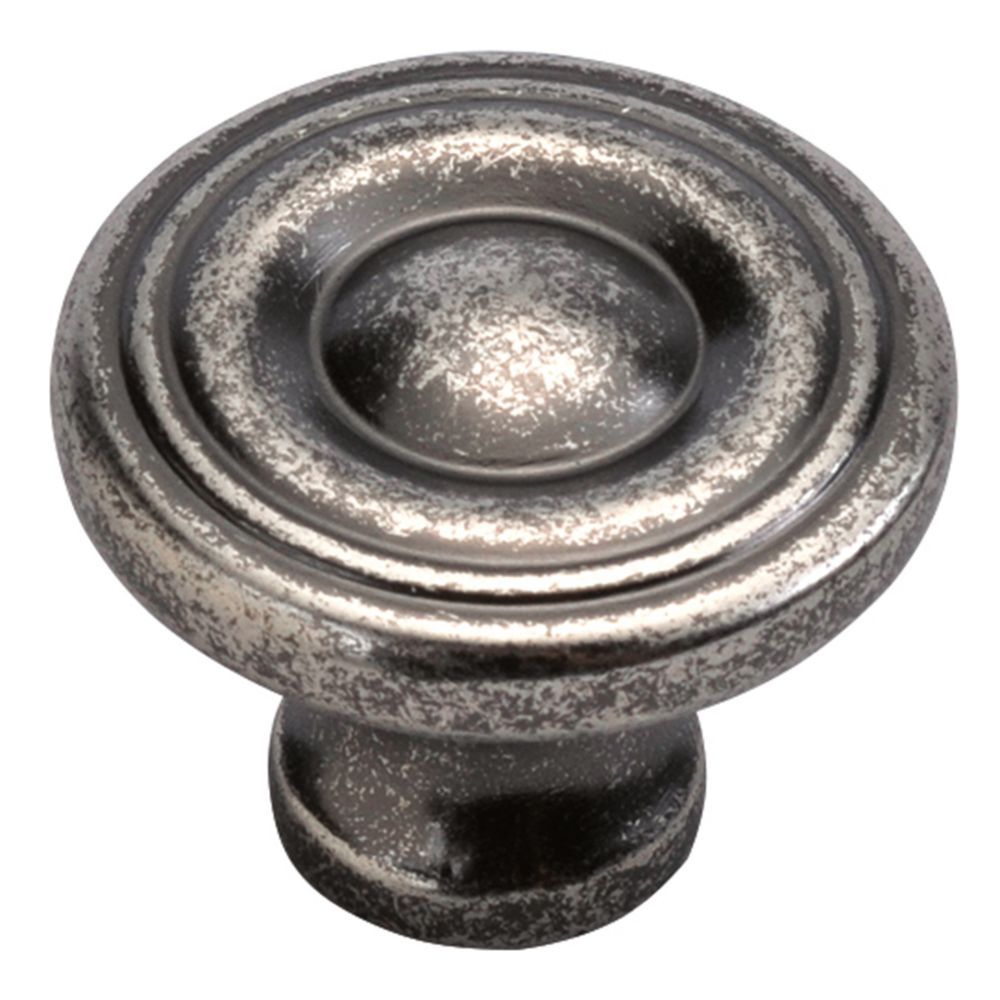 Hickory Hardware P14402-BNV Conquest Collection Knob 1-3/16 Inch Diameter Black Nickel Vibed Finish