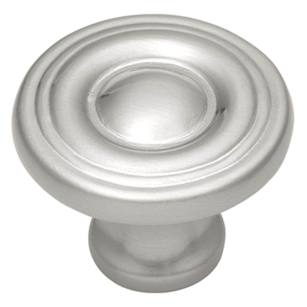 Hickory Hardware P14402-SN Conquest Collection Knob 1-3/16 Inch Diameter Satin Nickel Finish