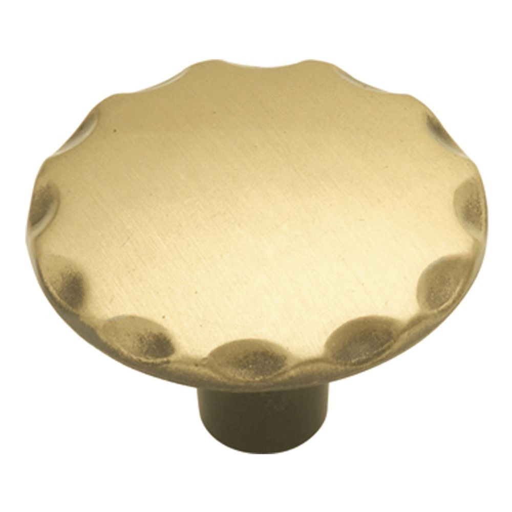 Hickory Hardware P146-AB Cavalier Collection Knob 1-1/8 Inch Diameter Antique Brass Finish