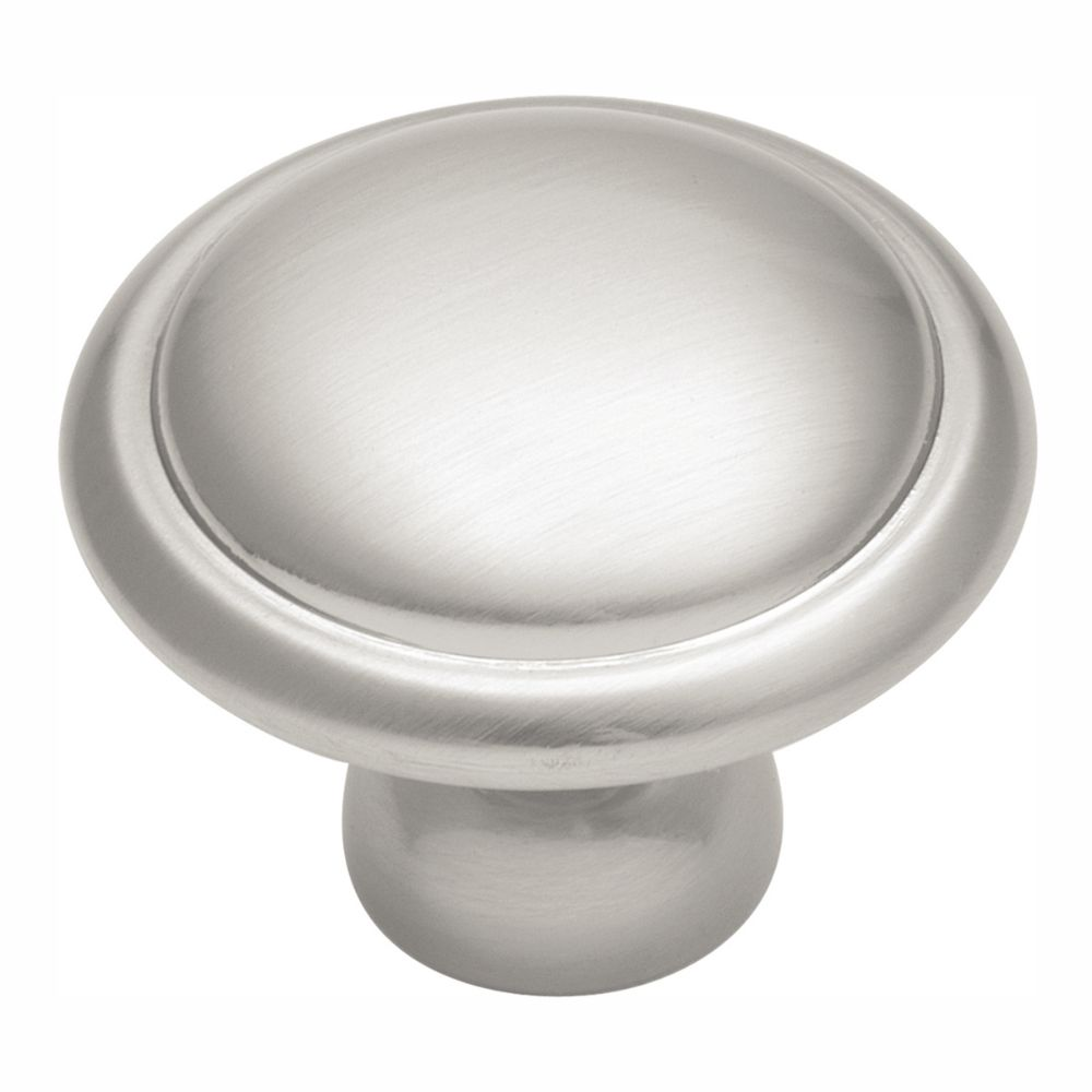 Hickory Hardware P14848-SN Conquest Collection Knob 1-3/8 Inch Diameter Satin Nickel Finish