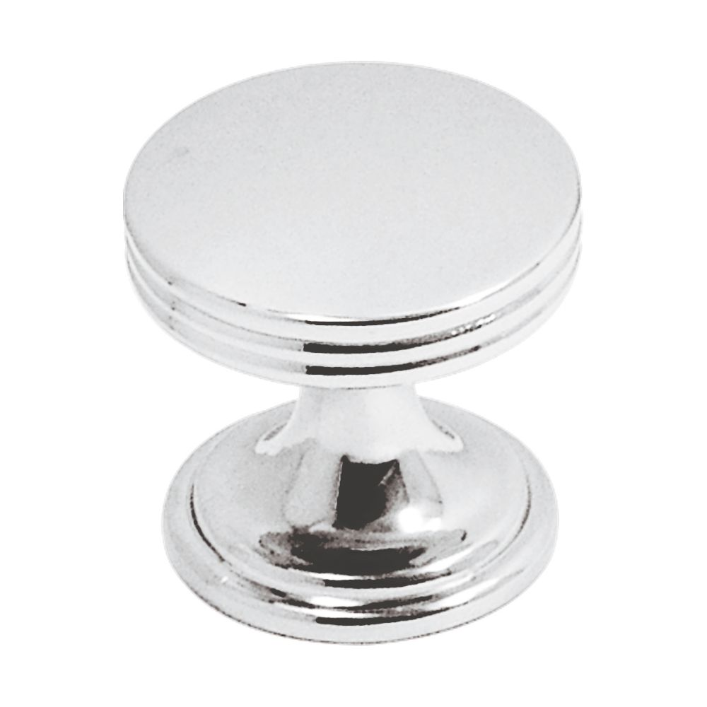 Hickory Hardware P2140-CH American Diner Collection Knob 1 Inch Diameter Chrome Finish