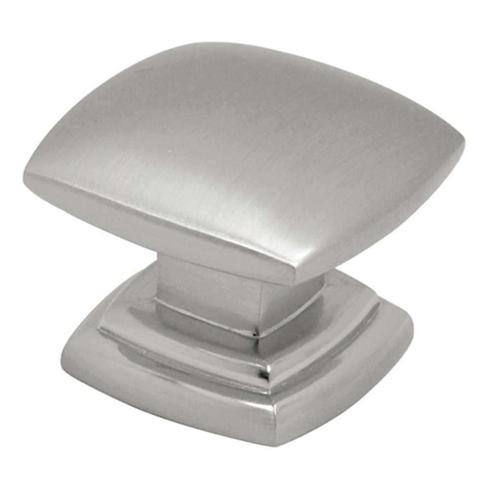Hickory Hardware P2163-SN Euro-Contemporary Collection Knob 1-1/2 Inch Diameter Satin Nickel Finish