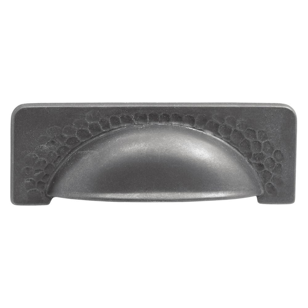 Hickory Hardware P2174-BI Craftsman Collection Cup Pull 3-3/4 Inch (96mm) Center to Center Black Iron Finish
