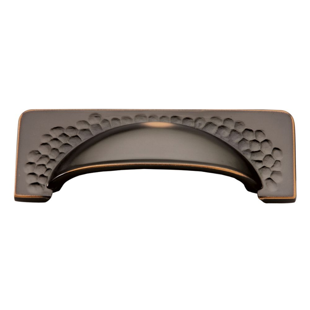 Hickory Hardware P2174-OBH Craftsman Collection Cup Pull 3-3/4 Inch (96mm) Center to Center Oil-Rubbed Bronze Highlighted Finish