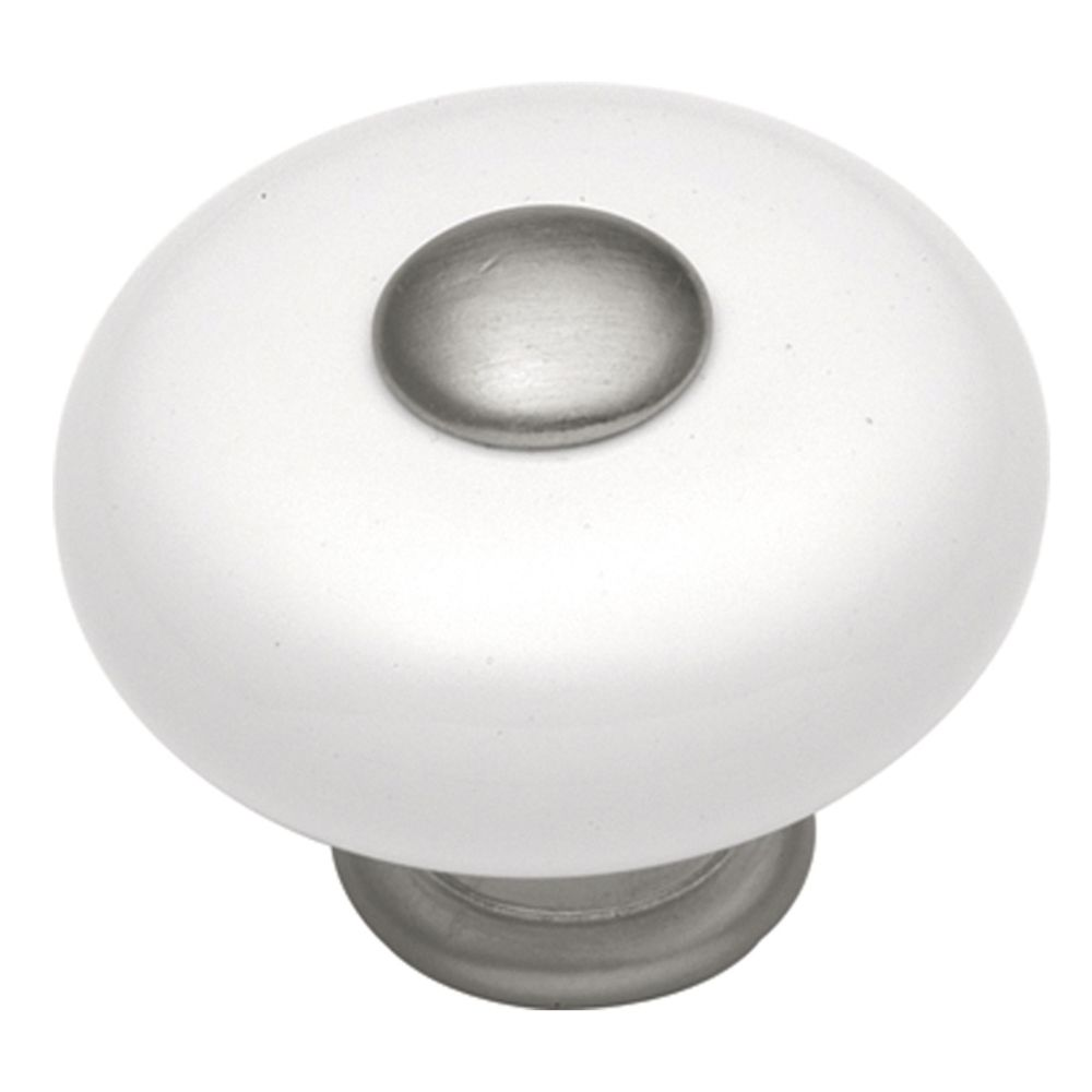 Hickory Hardware P222-SN Tranquility Collection Knob 1-1/4 Inch Diameter Satin Nickel Finish