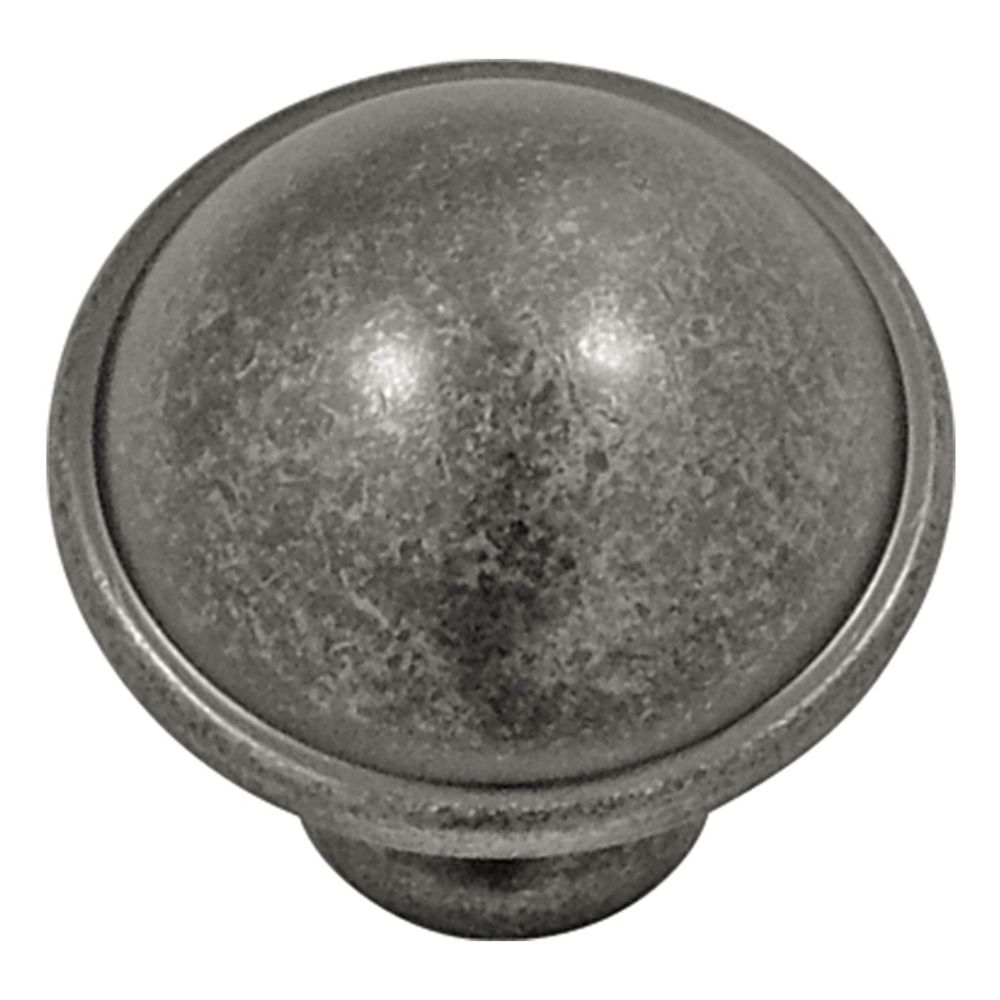 Hickory Hardware P2243-BNV Savoy Collection Knob 1-1/4 Inch Diameter Black Nickel Vibed Finish