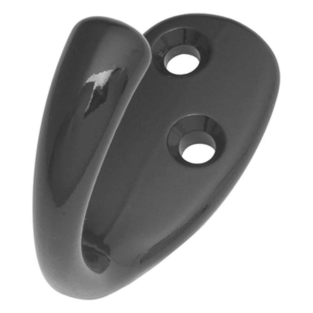 Hickory Hardware P27100-BL Hooks Collection Utility Hook Single 1/2 Inch Center to Center Black Finish