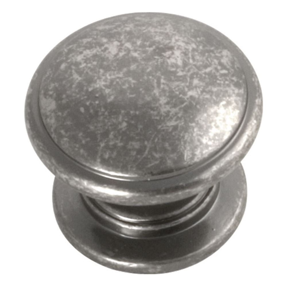 Hickory Hardware P3053-BNV Williamsburg Collection Knob 1-1/4 Inch Diameter Black Nickel Vibed Finish