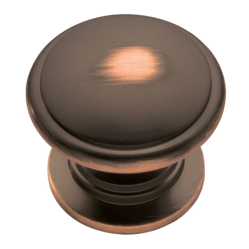 Hickory Hardware P3053-OBH Williamsburg Collection Knob 1-1/4 Inch Diameter Oil-Rubbed Bronze Highlighted Finish