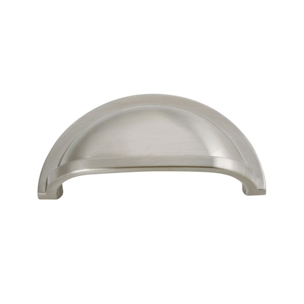Hickory Hardware P3055-15 Williamsburg Collection Cup Pull 3 Inch Center to Center Satin Nickel Finish