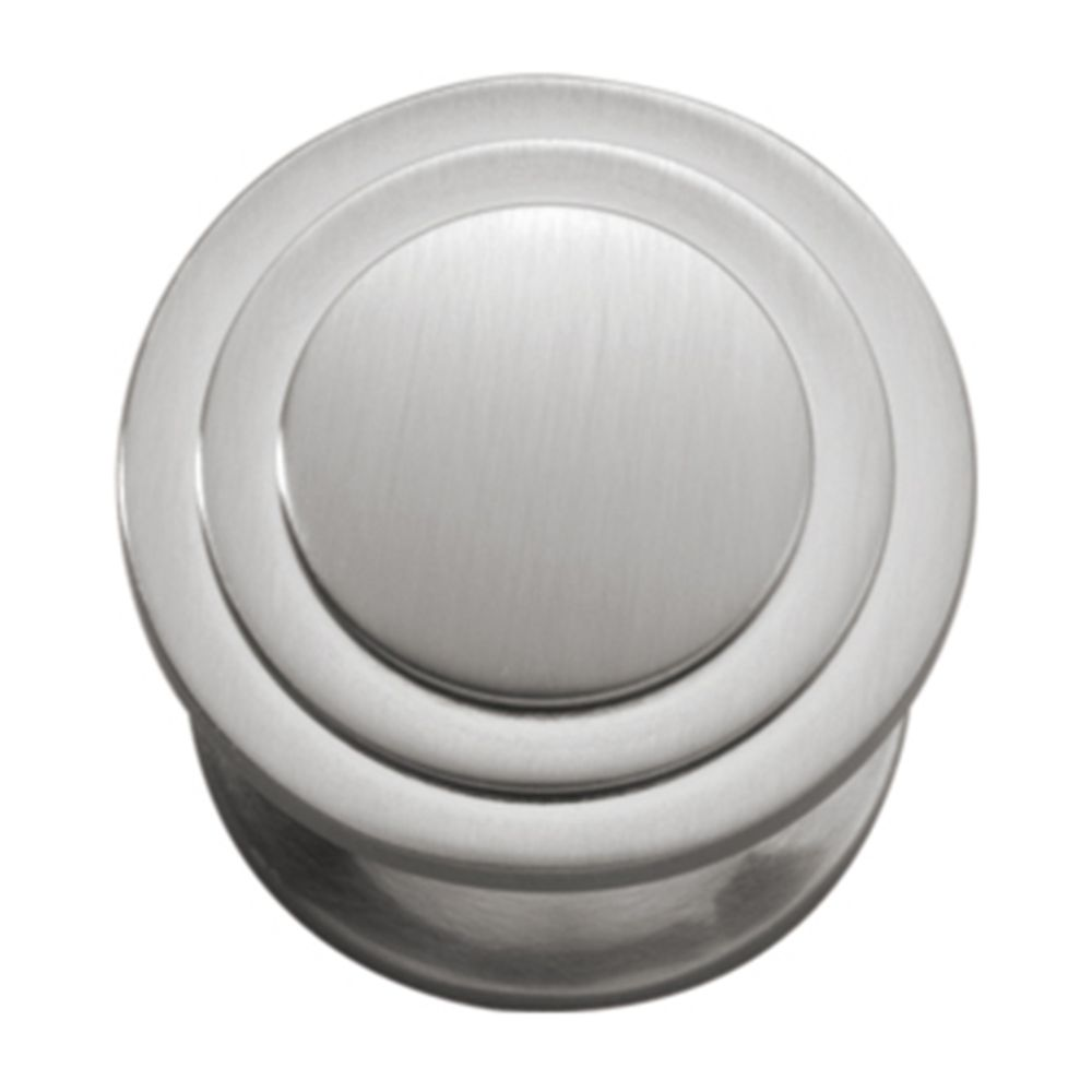 Hickory Hardware P3102-SN Deco Collection Knob 1-1/16 Inch Diameter Satin Nickel Finish