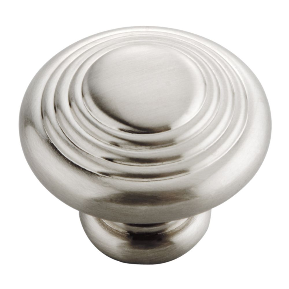 Hickory Hardware P3103-SN Deco Collection Knob 1-1/4 Inch Diameter Satin Nickel Finish
