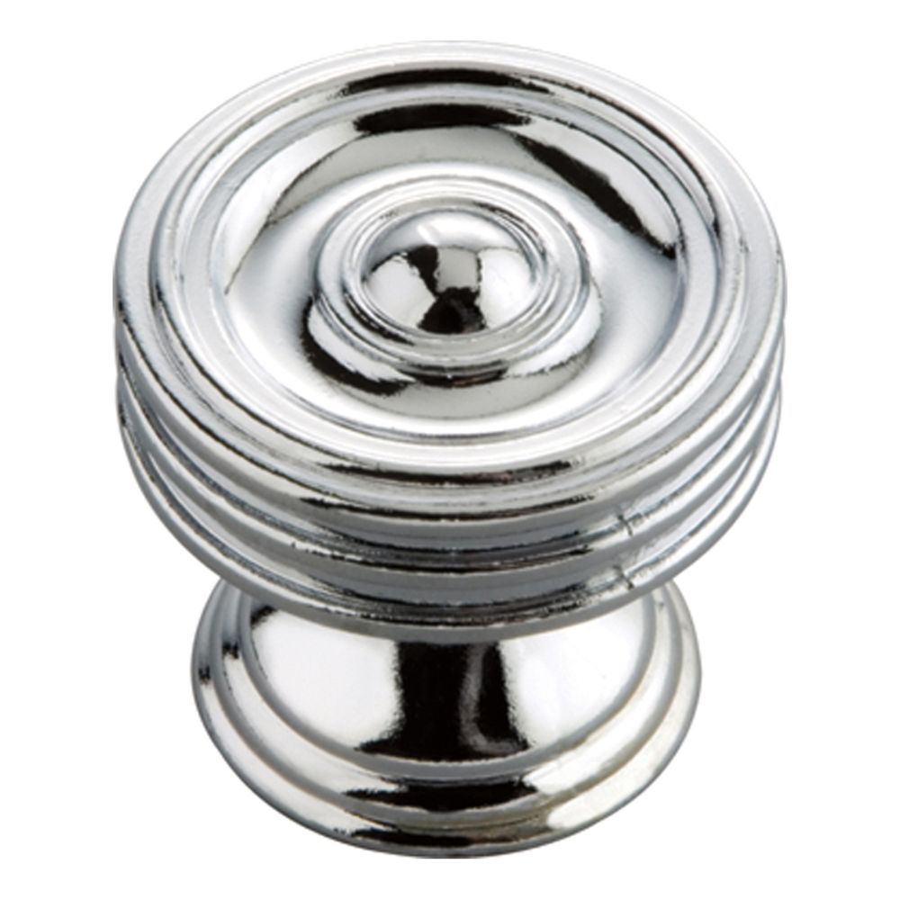 Hickory Hardware P3131-CH Williamsburg Collection Knob 1-1/4 Inch Diameter Chrome Finish
