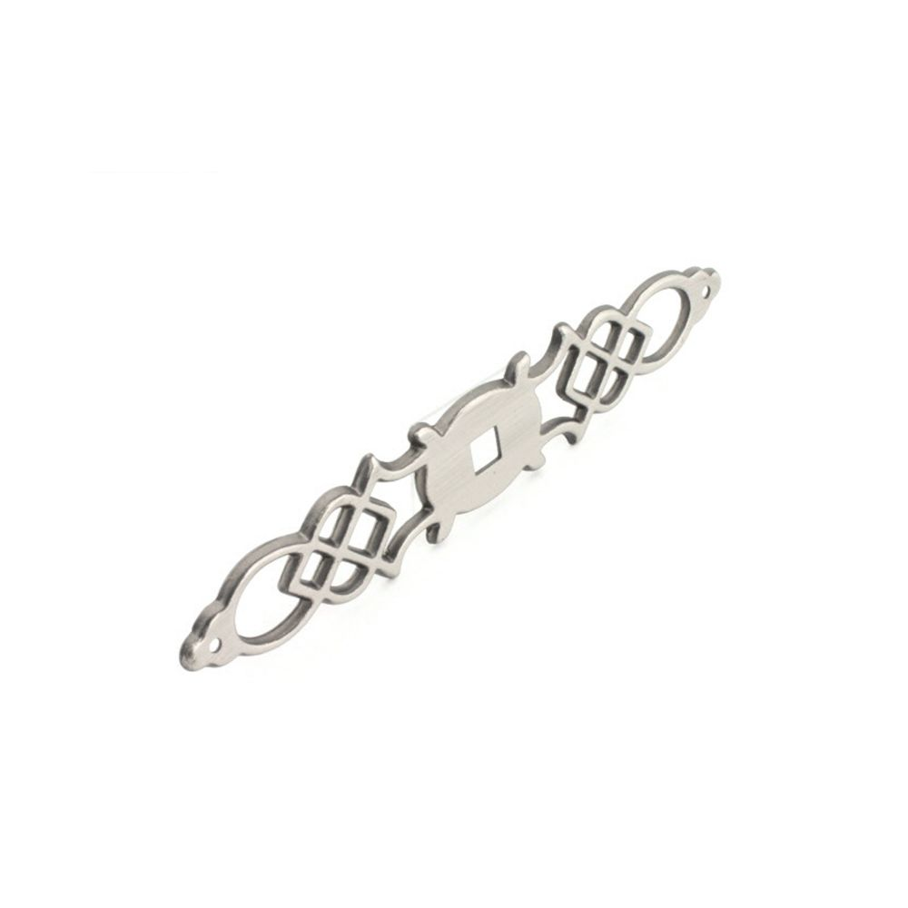 Hickory Hardware P326-ST Manor House Collection Backplate 1 Inch X 5-1/2 Inch Silver Stone Finish