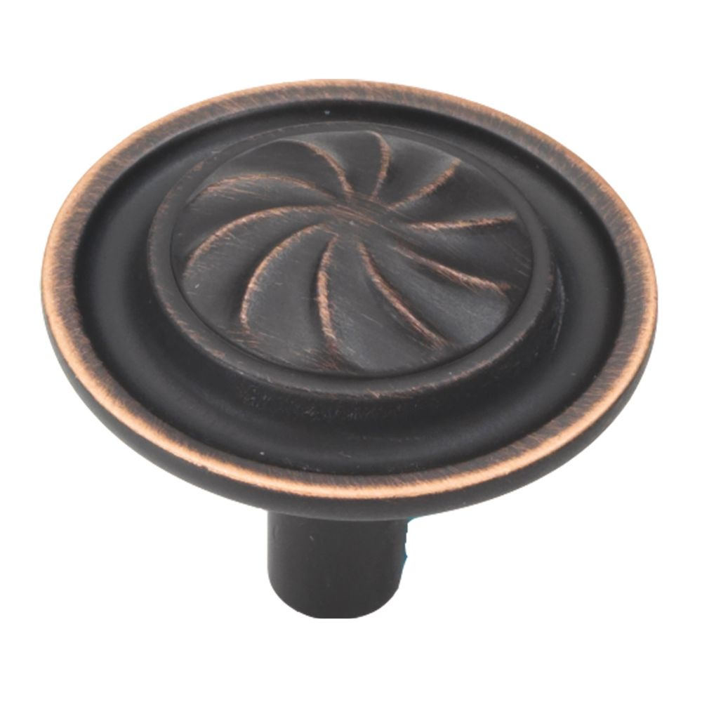 Hickory Hardware P3461-VB Roma Collection Knob 1-1/4 Inch Diameter Vintage Bronze Finish